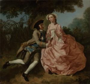 Lovers in a Landscape, 18C, Pieter Jan van Reysschoot, Yale Center for British Art.
