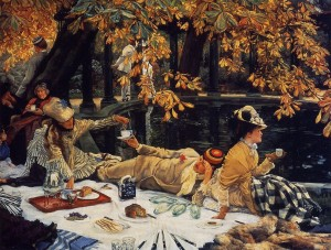 English: Holyday,1876, James Tissot,oil on canvas.