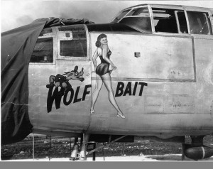 B-25_Wolf_Bait_Nose_Art