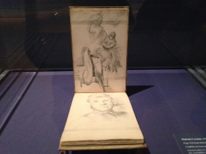 Cezanne sketch book, photo The Sultanette