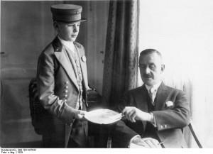 Thomas Mann the Adlon, 1929, German Federal Archives.