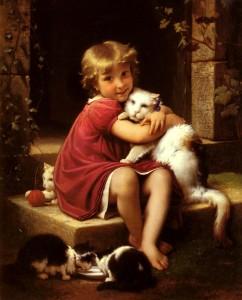 Cat Hug, Léon Perrault.