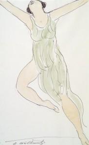 Isadora Duncan, Abraham Walkowitz circa 1915, Brooklyn Museum.