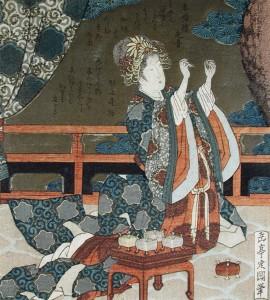 Home alone, Yashima Gakutei, circa 1820, bequest Cora Timken Burnett.