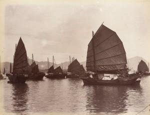 Chinese boats, Lai Afong, circa 1880.