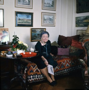 Baroness Budberg at 80 in her London apt,1972, Allan Warren.