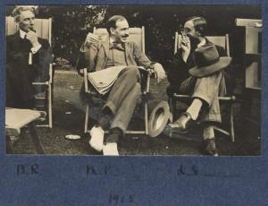 B. Russel w/ Keynes & Strachey, 1915, Natl Portrait Gallery.