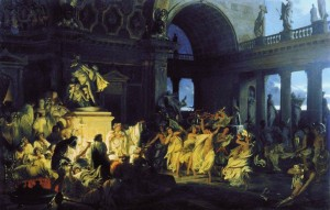 Roman Orgy At Caesar's Time, Henryk Siemiradzki,1872.