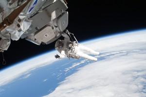 Spacewalk, Astronaut Nicholas Patrick, 2/17/10, NASA.