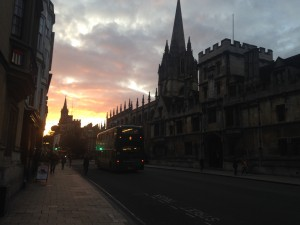 Dreaming spires at sunset.