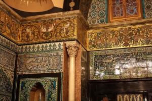 Detail Arab Hall. Leighton House.
