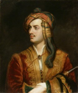 Mad, Bad Byron, replica by Thomas Phillips, oil on canvas, circa 1835 (1813)