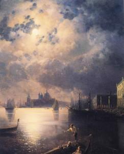 Byron in Venice, Ivan Constantinovich Aivazovsky.