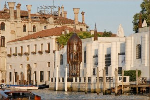 "Peggy's Palazzo, Jean-Pierre Dalbéra. Fondation Peggy Guggenheim ""Torre: a Cor-Ten steel tower, with ogival windows, tracery and turrets in the International Gothic style, on the terrace of Palazzo Venier dei Leoni, overlooking the Grand Canal "" http://www.guggenheim-venice.it/"