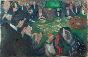 At the Roulette Table in Monte Carlo, oil on canvas, 1892, Edvard Munch.
