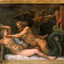 Giove seduces Olimpiade, fresco, Giulio Romano.