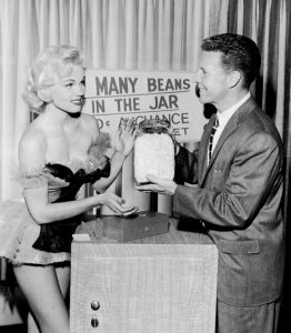 May '58 Playboy Playmate of the Month, Lari Laine & Ozzie Nelson on Ozzie & Harriet.