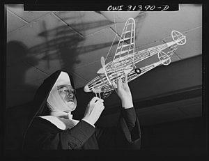 """The Flying Nun"" Sister Aquinas,1943, DC."