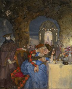 Rendezvous, Konstantin Somov (1869-1939), Oil on canvas, 1918.
