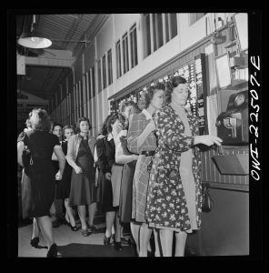 Punching the Clock, Philly,1942, Marjory Collins, Library of Congress.