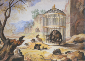 Cat in a Cage,Gottfried Mind, c1800.